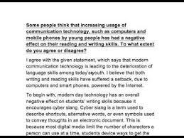 effect of modern communication technology on reading and  effect of modern communication technology on reading and writing skills