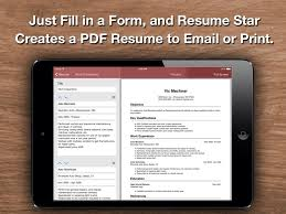 Resume Star Top Rated Resume Designer For The IPhone IPad And Cool Best Resume App