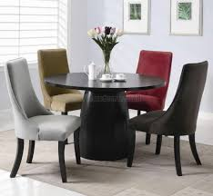 dining room white black chair contemporary room tables finished armless chairs cushion pads furniture modern