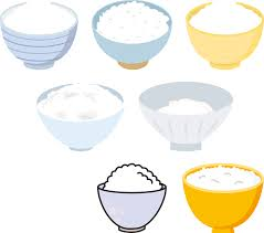 bowl of rice clip art. Unique Rice Rice In Bowls For Bowl Of Clip Art V
