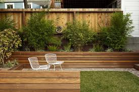 Planter fence landscape modern with flower bed flower bed wood fence