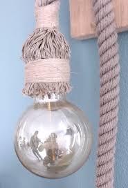 Touwlampen Met Metalen Fitting Gemaakt Van Gerecycled Scheepstouw
