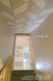 Best Bold Graphic Walls Images On Pinterest - Painted basement stairs