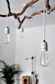 diy modern lighting. Awesome Impressive Tree Branch Chandelier And Stunning Modern Lighting Bulbs White Wall Diy