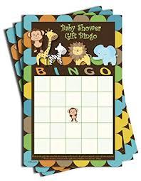 Amazon.com : Gift Bingo - Baby Shower Game - Jungle Themed (50 ...
