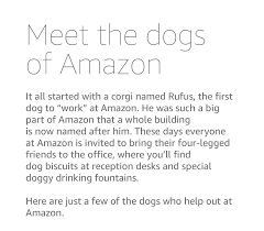 About Amazon - Working at Amazon - Dogs of Amazon