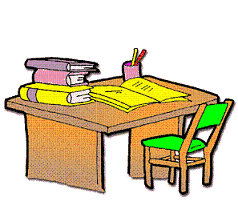 office chair clipart. office chair and desk clipart