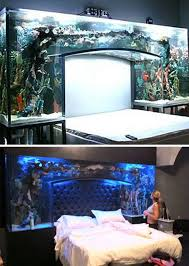 (Images via pixmag, sweetandlowshow) This custom bed aquarium is surely  something to behold