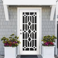 black metal screen doors. Premium Aluminum White Essex With Black Perforated Metal Screen Doors U