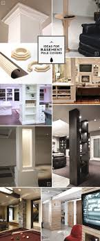 Bungalow Basement Renovation Ideas Design Ideas For Basement Pole Covers From Functional To