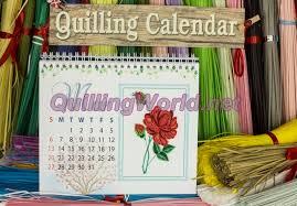 3d Paper Flower Calendar Quilling Calendar Archives Quillingworld Net