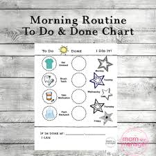 Morning Routine To Do And Done Reward Chart