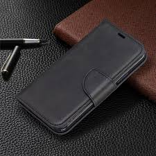 pu leather material phone covering case for iphone 2019 5 8 inch black