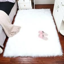 white faux sheepskin rug fur blanket decorative blankets for bed floor rugs pink