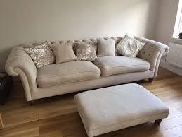 fabric chesterfield sofa.  Fabric U0027Wheatu0027 Coloured Fabric Chesterfield Sofa Armchair And Footstool Intended Fabric Sofa