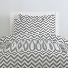 white and gray zig zag duvet cover