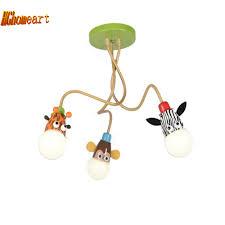 Us 1488 20 Offhghomeart Cartoon Tier Led Moderne Beleuchtung Kronleuchter Baby Zimmer Highlight Führte Kronleuchter Decke Kinder 110 V 220 V