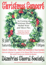 Christmas Concert Poster Christmas Concert Poster 2013 Dumfries Choral Society Choral