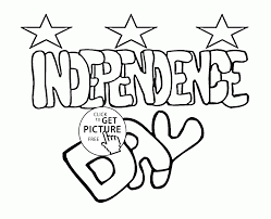 Independence Day Coloring Page For Kids
