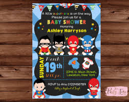 This 4x6 Or 5x7 Inch Invitation Will Be Personalized With Your Superhero Baby Shower Invitation
