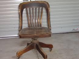 Antique Wooden Office Chair Instappraisal