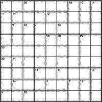 Sudoku Number Combinations Chart Kakuro Number Combinations