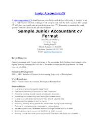 Agreeable Junior Accountant Resume Pdf With Cover Letter For