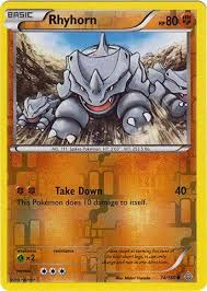 With a base experience of 135, rhyhorn reaches level 100 at approximately 16.68 million experience. Amazon Com Pokemon Rhyhorn 74 160 Xy Primal Clash Reverse Holo Toys Games