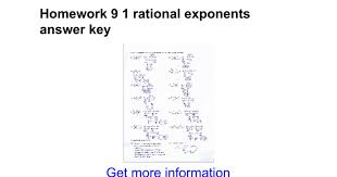 Homework 9 1 rational exponents answer key - Google Docs