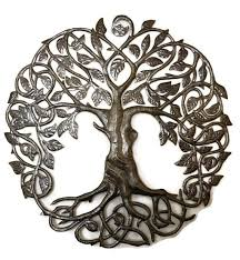 family roots tree of life large outdoor wall art recycled metal haiti 33 x 33  on large outdoor wall art metal with family roots tree of life large outdoor wall art recycled metal