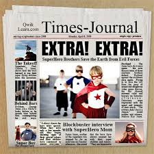 Extra Extra Newspaper Template Extra Extra Read All About It Digital Scrapper Blog