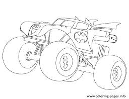 Stylist Ideas Monster Trucks Coloring Sheets Batman Truck Pages Free