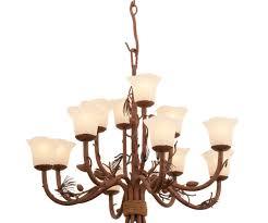 rustic chandeliers ponderosa chandelier with 12 lights