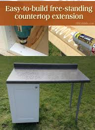 easy to build free standing countertop extension