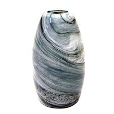 portfolio 7 88 in h 4 75 in w granite storm art glass cylinder pendant light
