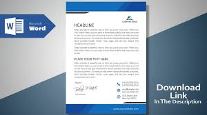 Header Template Word Create A Modern Professional Letterhead Free Template Ms Word Letterhead Tutorial Version 2 0