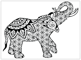 Elephant Mandala Coloring Pages Easy Pdf Printable For Teens