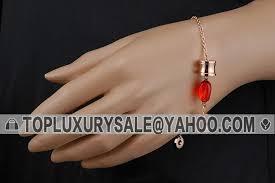 fake women s bvlgari b zero1 red gemstone spiral pendant gold plated chain bracelet singapore