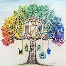 Coloring Pages Enchanted Gardeng Book Johanna Basford Secret Tree