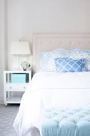 blue and white furniture. Brighten Up Your Blue Bedroom By Using Light Decor And White As An  Accent Color. Furniture