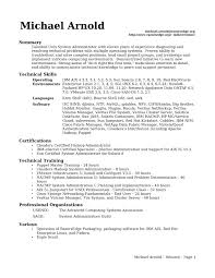 linux system administrator resume  it resume cover letter sample
