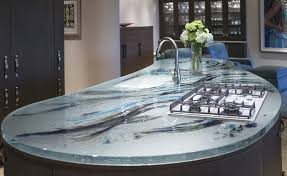 glass countertop kitchen heat resistant original design