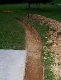 main retaining wall trench