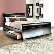 king size leather sleigh bed king size sleigh bed with storage drawers king size wooden sleigh