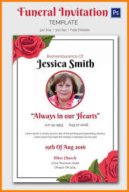 Memorial Announcement Cards Funeral Announcement Card Templates