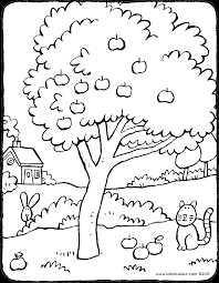 apple tree coloring page. Perfect Coloring Apple Tree Tree Colouring Page 01V Inside Apple Tree Coloring Page T