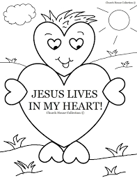 Sunday School Coloring Pages Lives In My Heart Coloring Page