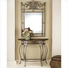 entryway table and mirror set console table design foyer and mirror set half round wooden with metal legs rectangle vintage