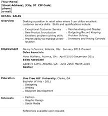 Retail Resume Amazing Retail Sales Resume Overview Employment How To Write A Resume For