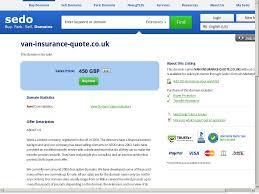 van insurance quote website history